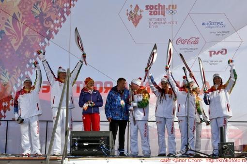 олимпийский огонь 54